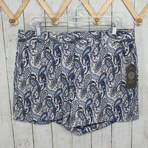 Vince Camuto Blue Paisley Shorts